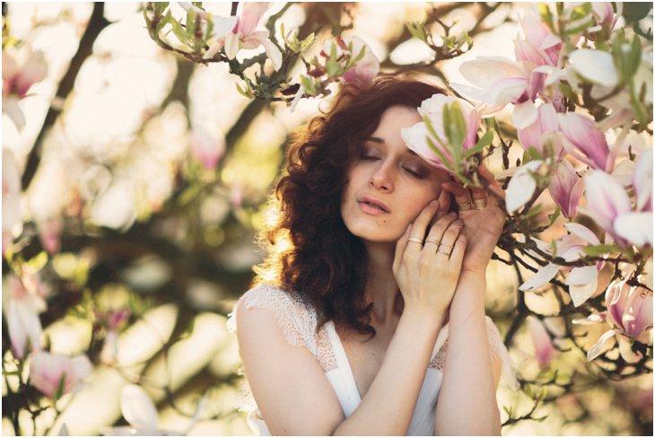Magnolia Bloesem Fotoshoot