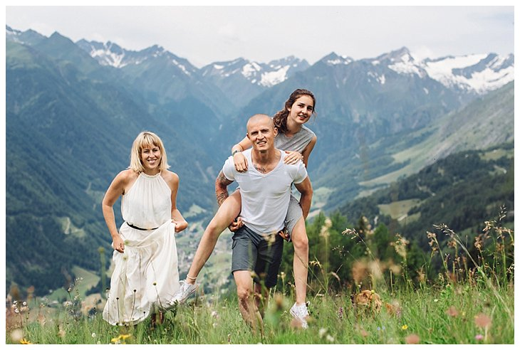 family shoot in the alps