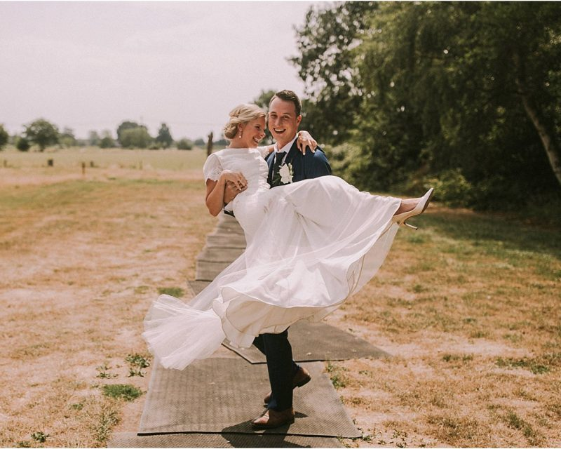 Dancing during couple shoot