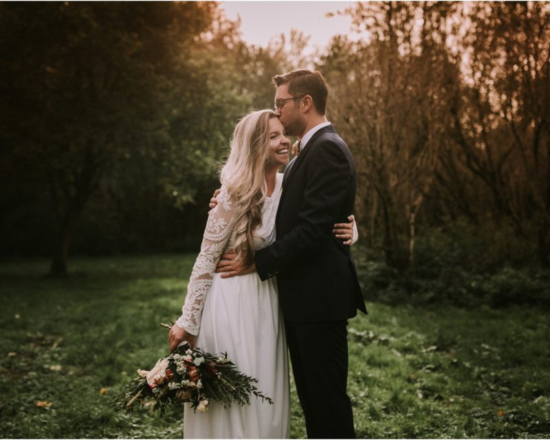 intimate wedding portraits