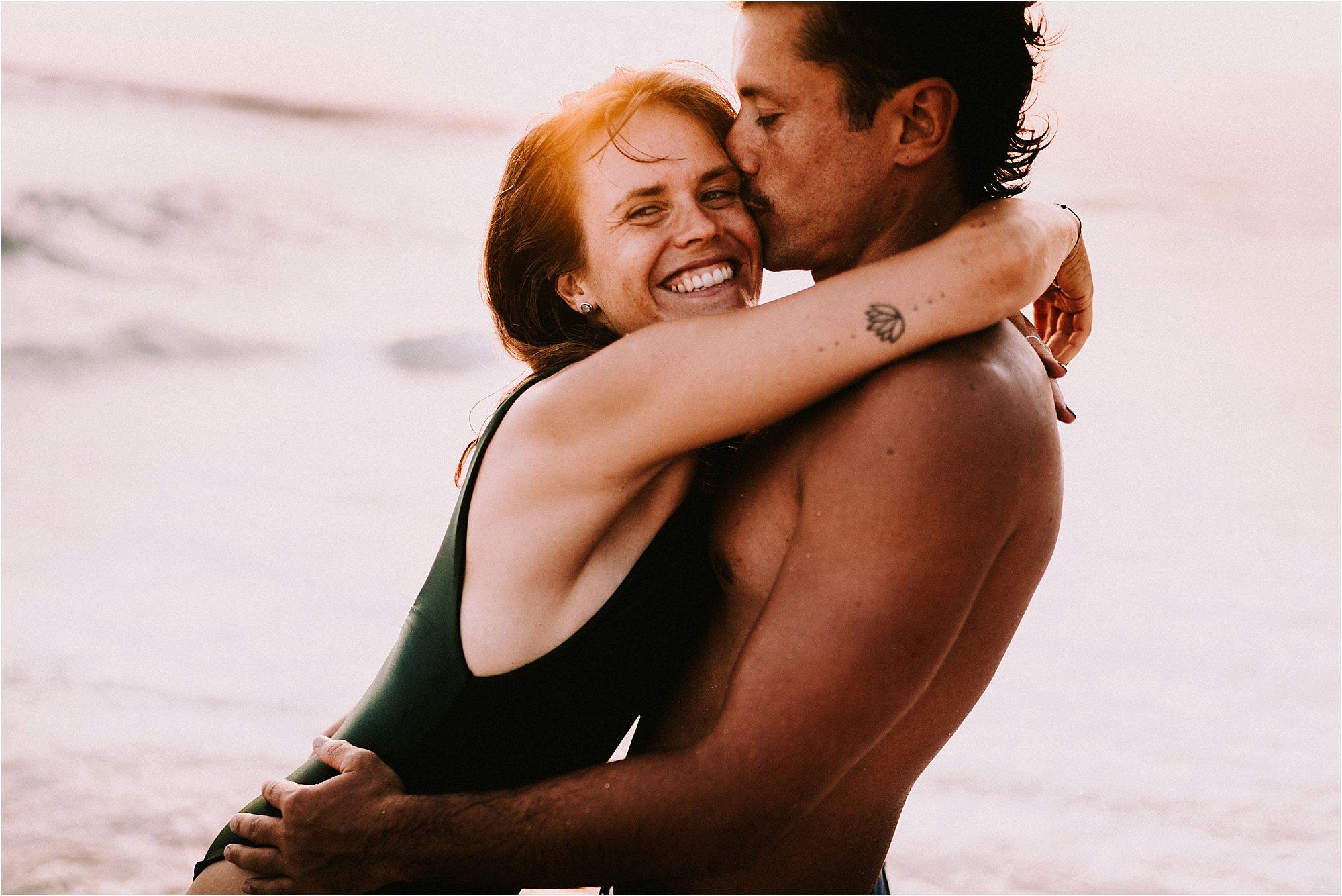 couple at golden hour at Nyang Nyang beach