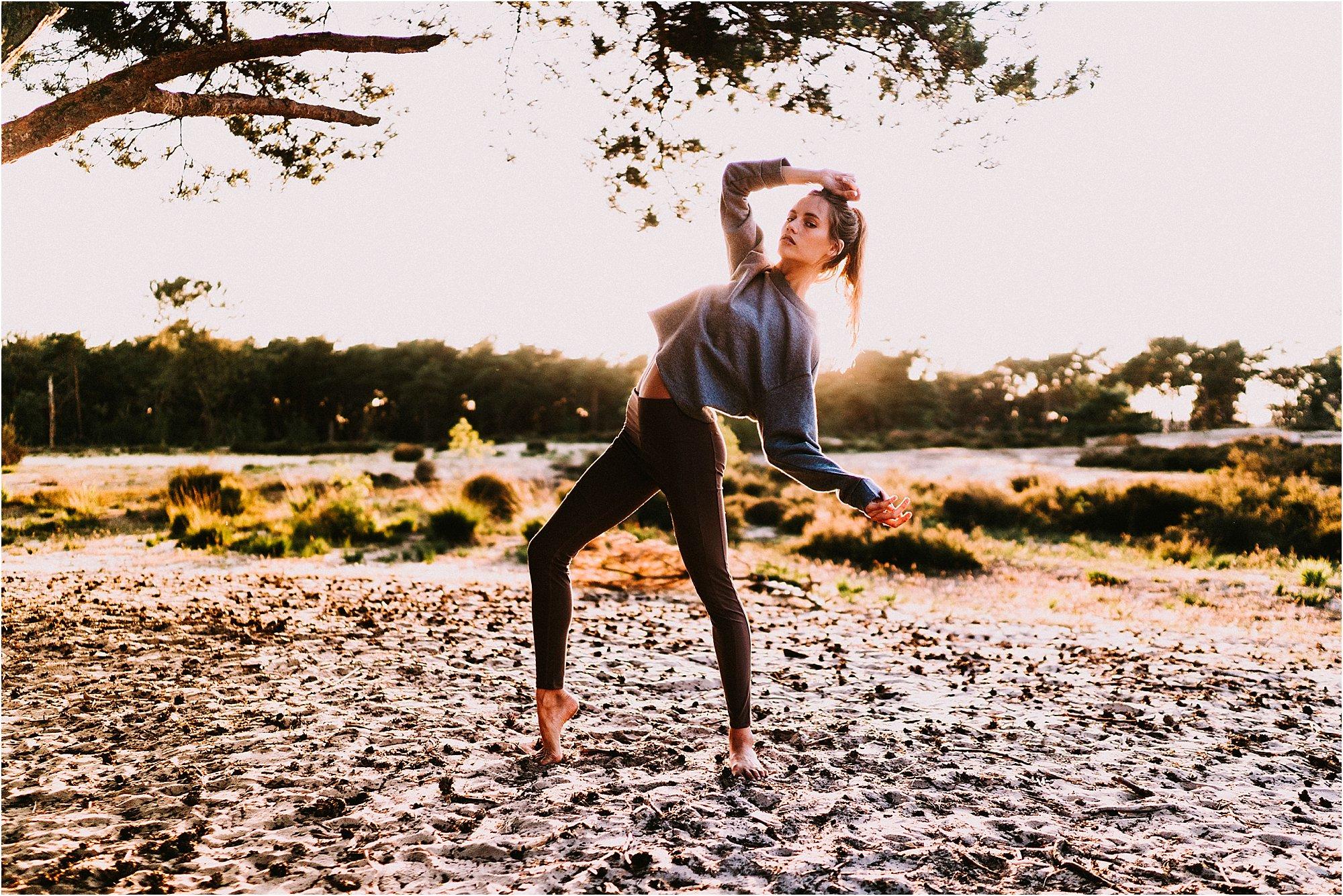 model posing for brand Yoga by Julz