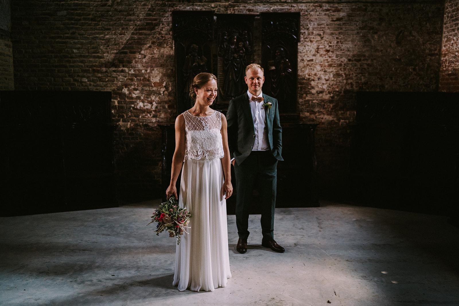indoor wedding shoot