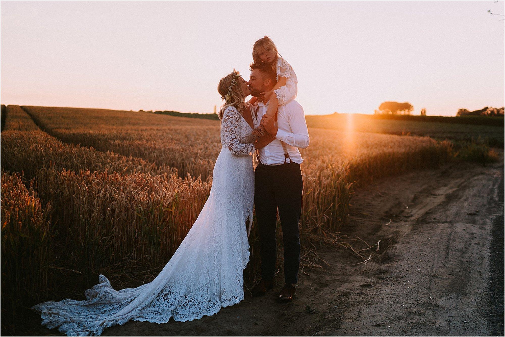 Golden Hour shoot boho huwelijk