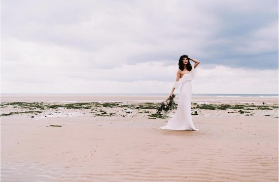 bridal shoot at the beach