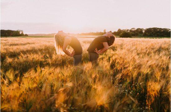 yoga shoot in golden hour